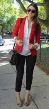 40 Womens red blazer jackets ideas 15