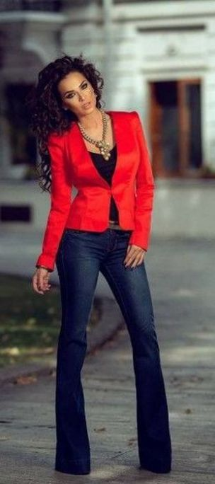 40 Womens red blazer jackets ideas 16