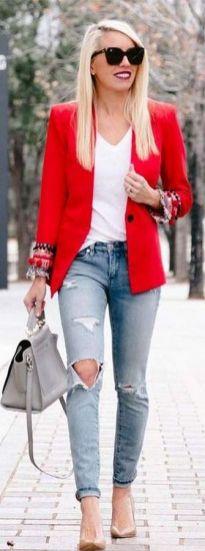 40 Womens red blazer jackets ideas 17
