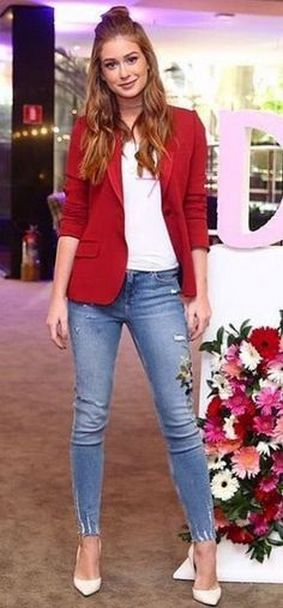 40 Womens red blazer jackets ideas 20