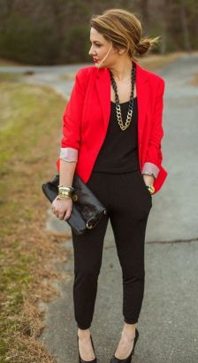 40 Womens red blazer jackets ideas 22