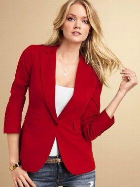 40 Womens red blazer jackets ideas 25