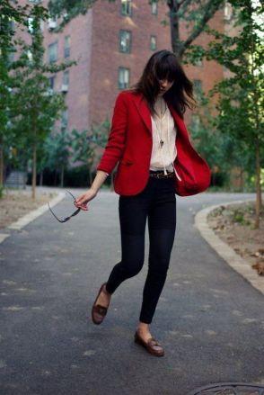 40 Womens red blazer jackets ideas 26