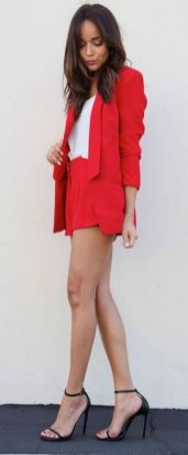 40 Womens red blazer jackets ideas 28