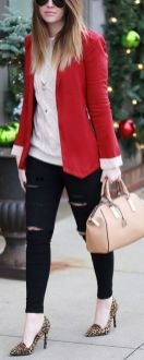 40 Womens red blazer jackets ideas 29