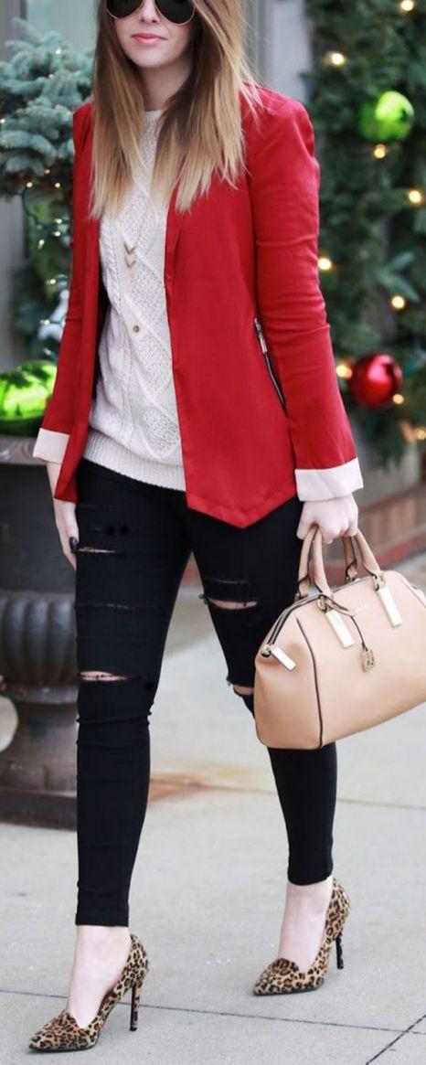 40 Womens red blazer jackets ideas 29