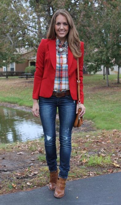 40 Womens red blazer jackets ideas 34
