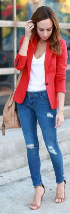 40 Womens red blazer jackets ideas 35