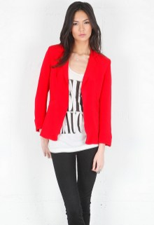 40 Womens red blazer jackets ideas 46