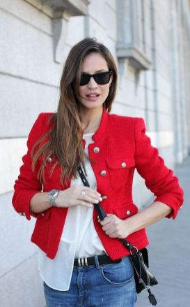 40 Womens red blazer jackets ideas 5