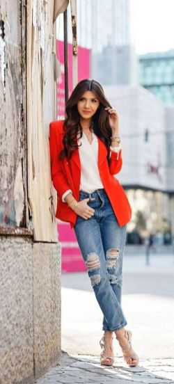 40 Womens red blazer jackets ideas 9