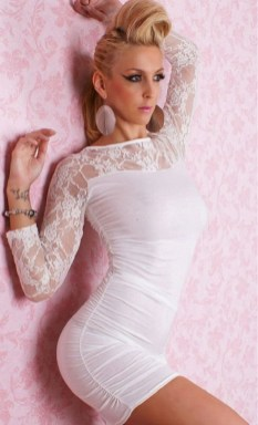 40 all white club dresses ideas 27
