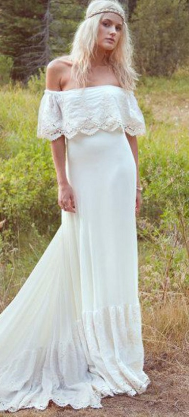 40 wedding dresses country theme ideas 12