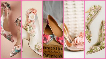 45 Floral Wedding Shoes Ideas You Never Seen Before