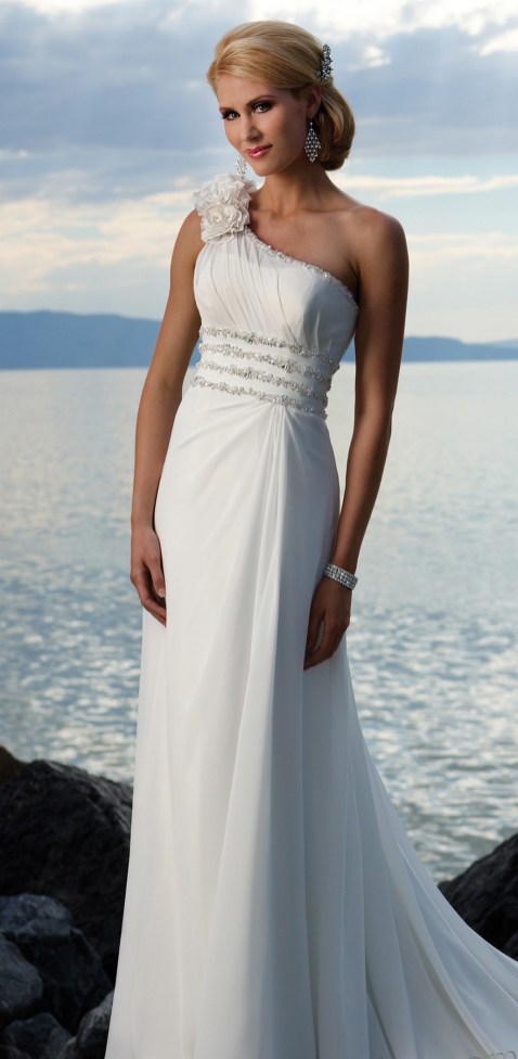 50 simple and sexy wedding dresses for the beach 11