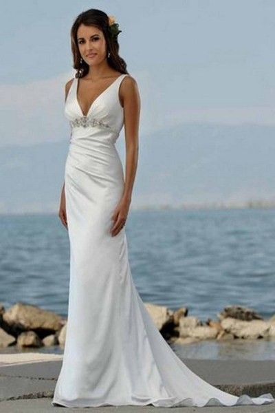 50 simple and sexy wedding dresses for the beach 22