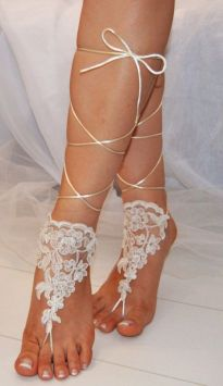 Beach Wedding Shoes and Sandals ideas 25