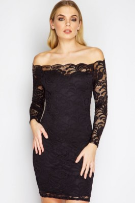 Classy evening shoulder lace dress for all special events 2