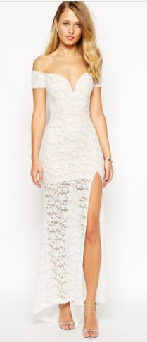 Classy evening shoulder lace dress for all special events 20