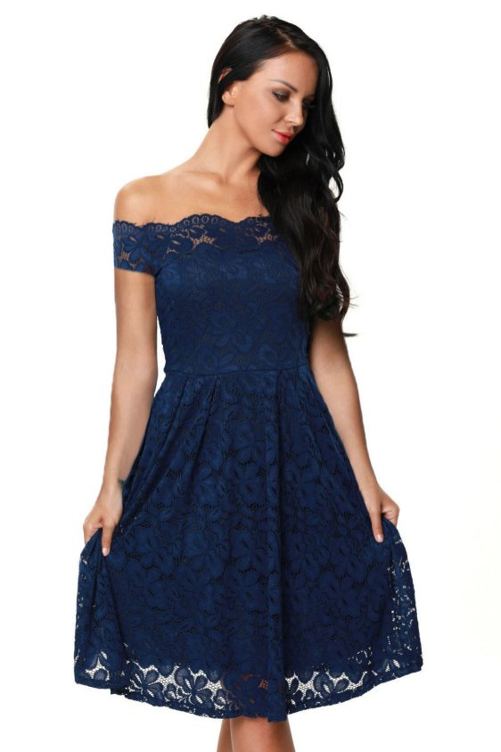 Classy evening shoulder lace dress for all special events 21