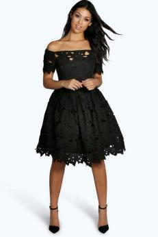 Classy evening shoulder lace dress for all special events 28