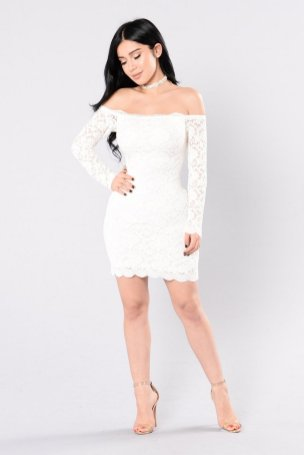 Classy evening shoulder lace dress for all special events 29