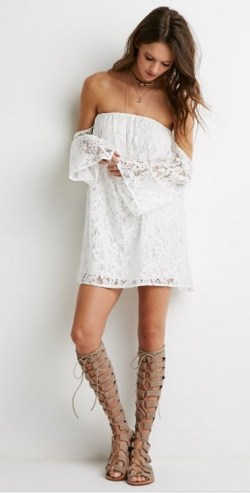 Classy evening shoulder lace dress for all special events 31