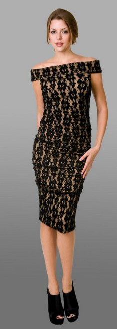 Classy evening shoulder lace dress for all special events 33