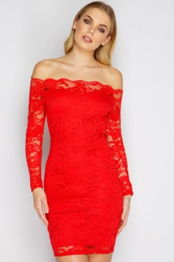 Classy evening shoulder lace dress for all special events 35
