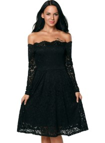 Classy evening shoulder lace dress for all special events 4