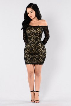 Classy evening shoulder lace dress for all special events 43