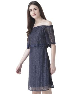 Classy evening shoulder lace dress for all special events 47