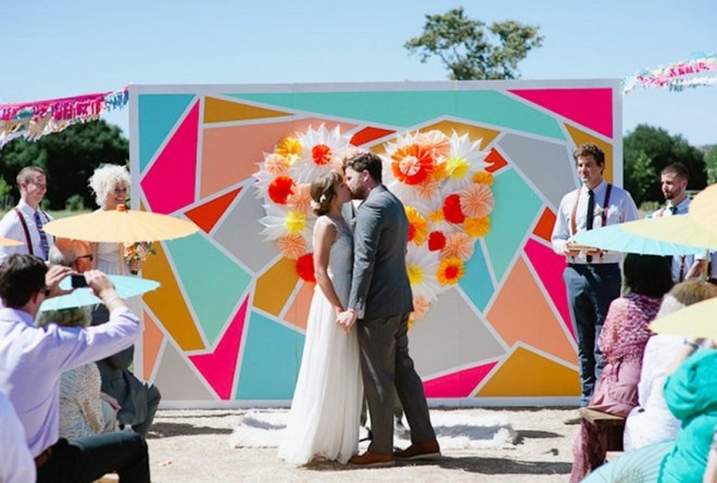 Creative And Fun Wedding day Reception Backdrops You Like Ideas 17