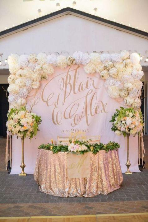 Creative And Fun Wedding day Reception Backdrops You Like Ideas 45
