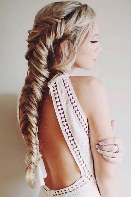Fishtail Hairstyles for all situations 19