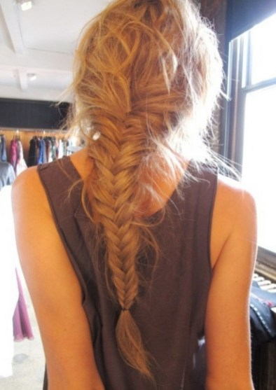 Fishtail Hairstyles for all situations 34