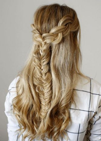 Fishtail Hairstyles for all situations 40