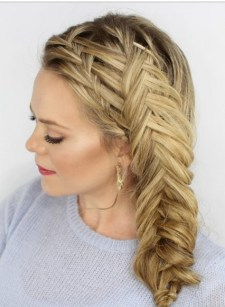 Fishtail Hairstyles for all situations 8