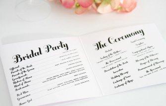 Simple Wedding Reception Program Sample Ideas 11