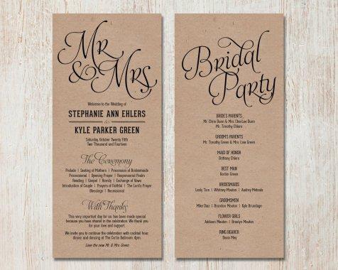 Simple Wedding Reception Program Sample Ideas 13