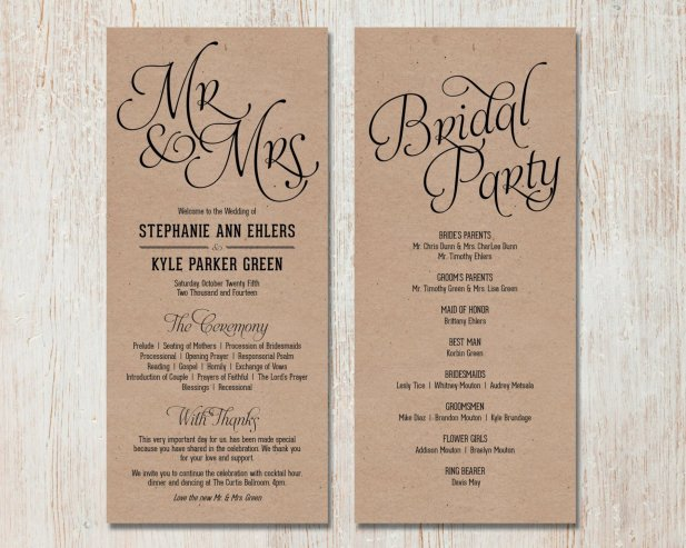 Simple Wedding Reception Program Sample Ideas 13