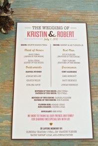 Simple Wedding Reception Program Sample Ideas 16