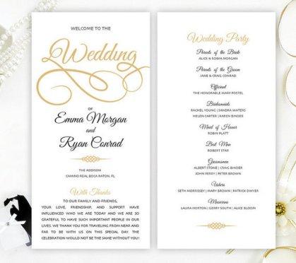 Simple Wedding Reception Program Sample Ideas 18