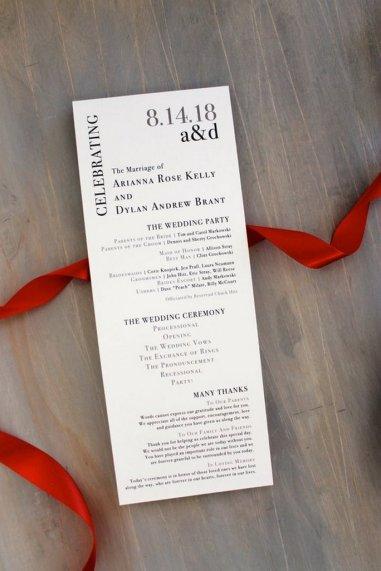 Simple Wedding Reception Program Sample Ideas 19
