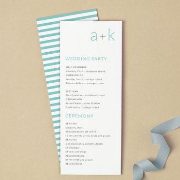Simple Wedding Reception Program Sample Ideas 2