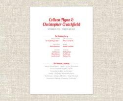 Simple Wedding Reception Program Sample Ideas 20