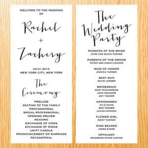 Simple Wedding Reception Program Sample Ideas 21