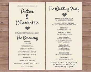 Simple Wedding Reception Program Sample Ideas 22