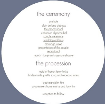 Simple Wedding Reception Program Sample Ideas 23