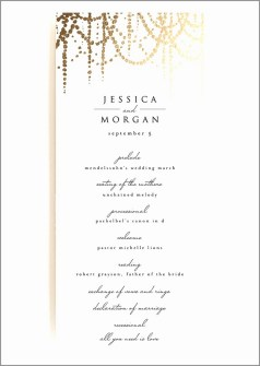 Simple Wedding Reception Program Sample Ideas 27